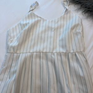 Gorgeous After Market White Stripe Blouse